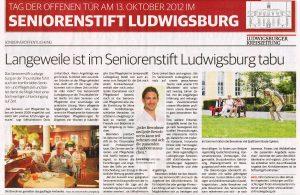 Ludwigsburger Kreiszeitung vom 11. Oktober 2012